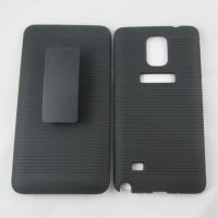 新款 三星note4手机壳 双面背夹磨砂手机保护壳 腰夹外壳