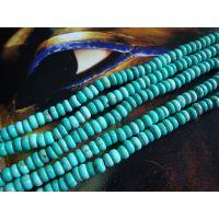 盛记宝石 3*6mm绿松石算盘珠 宝石配件 饰品配件原石DIY饰品配件