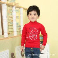 厂家直销纯棉小熊韩版童装 卡通男童针织衫 中小童打底衫A9465