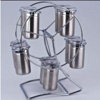可视不锈钢密封罐 储物罐十件套 咖啡奶粉封罐茶叶罐  调味罐