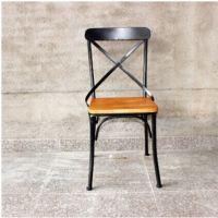 铁艺实木餐椅 铁木椅 休闲椅子 靠背餐椅休闲咖啡椅