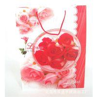 【现货】情人节礼物饰品购物通用PP塑料透明包装手提袋 塑胶袋子