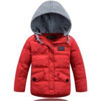 14热销欧美款儿童羽绒服 J家连帽童羽绒服 保暖厚款宝宝外套