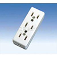 三位美式接线插座,米色,铜材质,另有其他插座插头开关等
