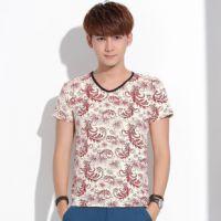 代理加盟  2014夏季新款短袖t恤男韩版修身t恤打底衫青少年体恤衫