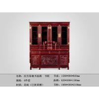 红木家具供应-汉宫春晓书桌-红酸枝书桌-大红酸枝家具-百家红木
