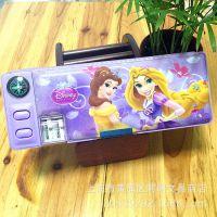 迪士尼正品 公主多功能文具盒卡通创意铅笔盒学生文具可爱新款批