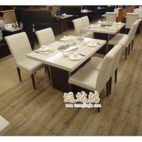 深圳批发定做高档优质大理石火锅桌  常规长方桌 方桌 圆桌