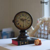 V739071欧式复古座钟 个性双面钟 创意铁艺钟表