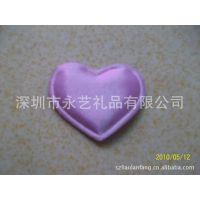 紫色色丁布心型 电压爱心 玩具心型 礼品盒爱心 装饰心型