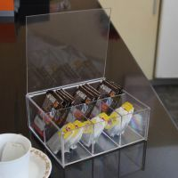 透明亚克力6格茶包盒咖啡包奶茶包茶叶包收纳盒 桌面收纳盒储物盒