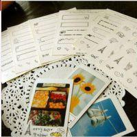 装饰贴纸韩国拍立得铁塔小物可爱照片相册相簿日记本diy必备 7张