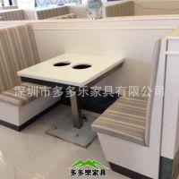 两人自助大理石电磁炉餐厅火锅桌椅全国订做  火锅店家具厂家