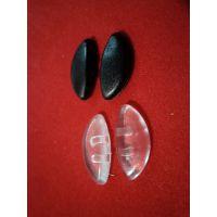 保时捷眼镜鼻托黑色透明鼻托 卡式鼻托 PVC材质 眼镜配件 批发