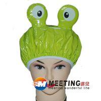 可爱卡通浴帽 防水沐浴帽洗头帽 环保儿童青蛙造型卡通浴帽