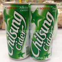 韩国进口 Lotter乐天七星冰柠味碳酸饮料250ml听 易拉罐 整箱30罐