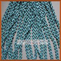 15mm空心桃心形饰品配件/蓝色天然绿松石/diy隔珠散珠子材料批发