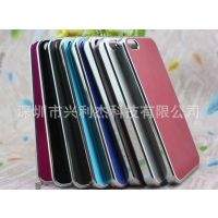 供应苹果iPhone5 金属电镀拉丝外壳 手机保护套 苹果配件批发