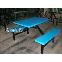 连体快餐桌的特点介绍 连体餐桌有什么好的 玻璃钢餐桌连体食堂餐桌