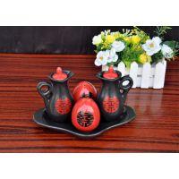 欧式田园油壶 调味罐 红双喜调味罐厨房餐桌用具五件套胡椒罐