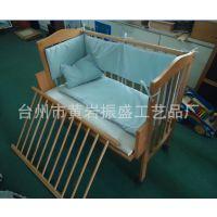 厂家生产  儿童床  婴儿摇床  实木床 木制本色 白色  出口制品