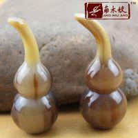 498[角木蛟]广西品牌厂家批发高档民间手把件 天然牦牛角歪把葫芦