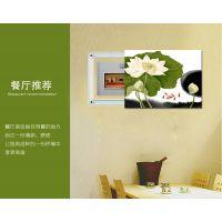 遮挡电表箱 配电箱推拉式无框画 餐厅客厅装饰画 简约及高档