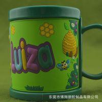 【促销礼品定制工厂】PVC软胶礼品马克杯 专供出口,品质保证