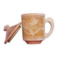 厂家直销 精品木质礼品红豆杉单耳杯 手工雕刻保温水杯保健茶杯