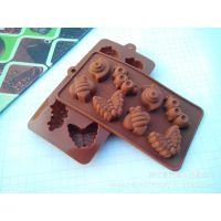 硅胶模 8连蜗牛毛毛虫蝴蝶造型 巧克力模具