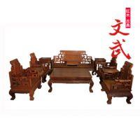 红木家具/缅甸花梨沙发十三件套/实木曲几如意客厅沙发/宝座沙发