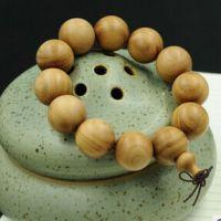 檀香佛珠 芭比檀香高仿老山檀香手串通用木质简约手链2.0*12