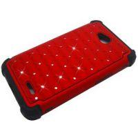 亚马逊热卖 LG L70 手机壳,  防摔镶水钻三合一满天星手机壳批发