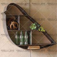 现代简约时尚创意铁皮艺墙壁置物架挂饰书架展示收纳储物小鸟格子