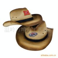 厂家直销纸草编织草帽 欧美牛仔 可以定制logo 欢迎中外客户选购