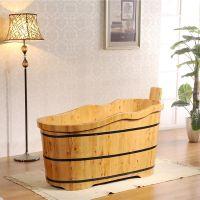 厂家批发浪边型木桶浴桶 浴缸 超值香柏木沐浴桶小浴室泡澡木桶