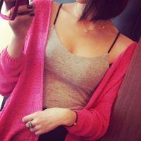 供应定制 2014春装夏装女装新款 背心吊带打底衫 多色糖果色