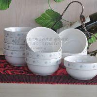 供应创意韩式陶瓷碗 手工10件套 商业礼品礼盒 厨房餐饮用具3713#