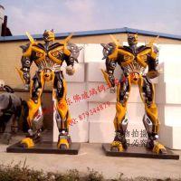 厂家供应变形金刚4 绝迹重生 擎天柱 大黄蜂 御天敌雕塑 定做大黄蜂雕塑
