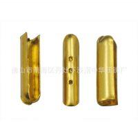 供应铜质包头 三孔绳咀扣 4mm*18mm鞋带子弹头 绳咀扣 金属鞋带头