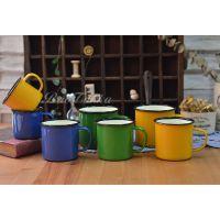 ZAKKA 杂货多色复古加厚搪瓷杯 做工精细别致彩色咖啡茶杯