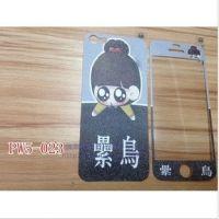 新款韩国官网苹果5珍珠皮紋iphone5復古黑白玫瑰碎花手機卡通貼膜