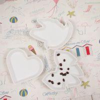 纯白西式出口高档餐盘 碟子餐具陶瓷 动物形小吃碟 水果碟 果酱碟