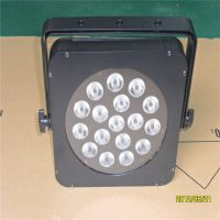 格蕾斯供应 专业LED帕灯18颗3W RGB 全彩三合一LED平板帕灯led面光灯 演出舞台婚庆灯