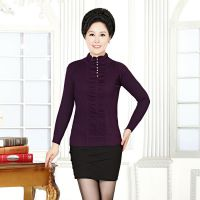 厂家直销秋冬新款针织衫中老年女装毛衣中领百搭妈妈百搭打底衫