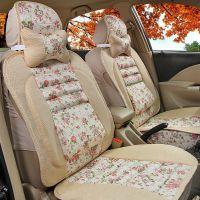 新款比亚迪S6别克凯越长城M4捷达吉利坐垫四季通用亚麻汽车座垫套