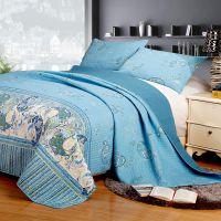 米悦 外贸精品可水洗绗缝被三件套床盖苏格兰风情空调被 厂家直销
