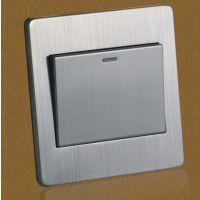 优质不锈钢面 阻燃性能墙壁开关
