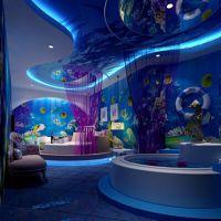 主题酒店3d壁画 ktv游泳馆海底世界墙画 餐厅背景墙壁纸墙纸厂家魔方壁画