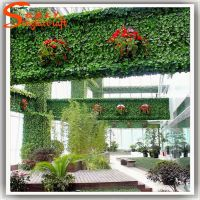 仿真植物墙室外装饰 墙壁美化绿植墙 室内仿真垂直墙 人造背景墙做法